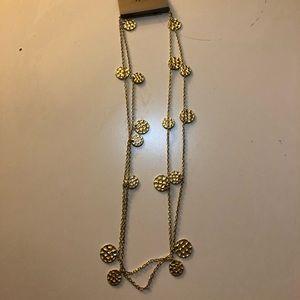 "Golden 48"" long necklace"